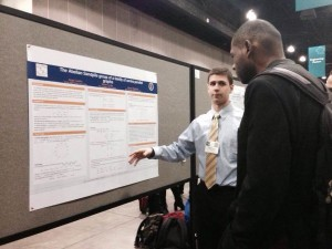 Vince Longo discusses his award-winning poster at the 2014 SACNAS National Convention.