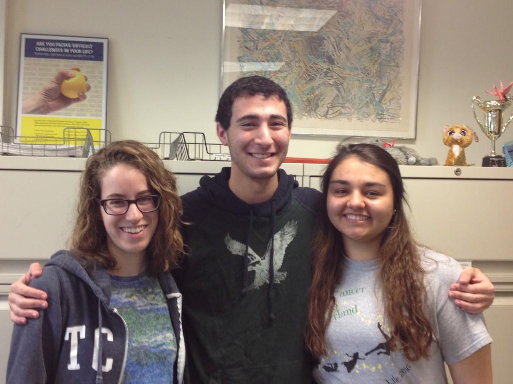 (l-r) Rebecca Santorella, Matthew Klubeck, and Ursula Widocki